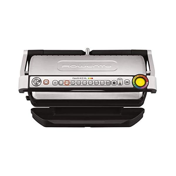 Rowenta GR722D Optigrill+ XL Bistecchiera Intelligente con 9 Programmi di Cottura Automatici, Nero / Argento 48x37… 2