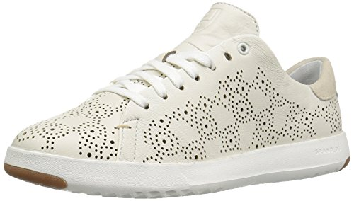 Cole Haan Women's Grandpro Paisley Perforated Fashion Sneaker, White, 7.5 B US