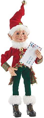 RAZ Imports Santas Little Helpers 12 Posable Elf with Letter