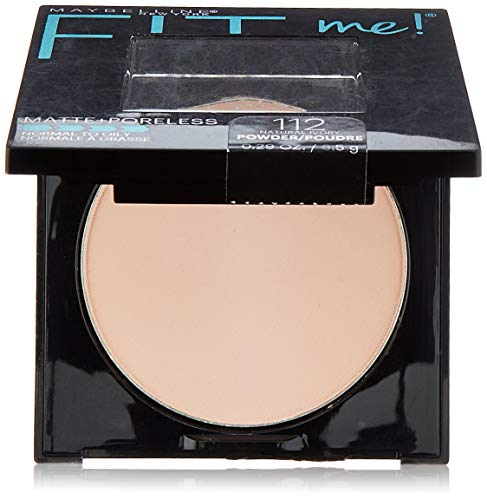 Maybelline New York Fit Me Matte + Poreless Pressed Face Powder Makeup, Natural Ivory, 0.28 Ounce (Best Pressed Face Powder)
