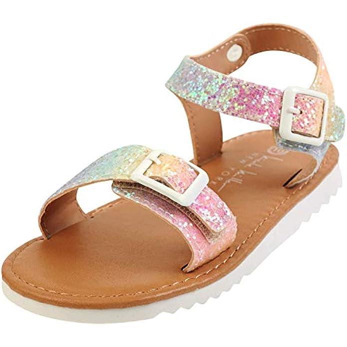 Nicole Miller Girls Chunky Glitter Sandals (Toddler)