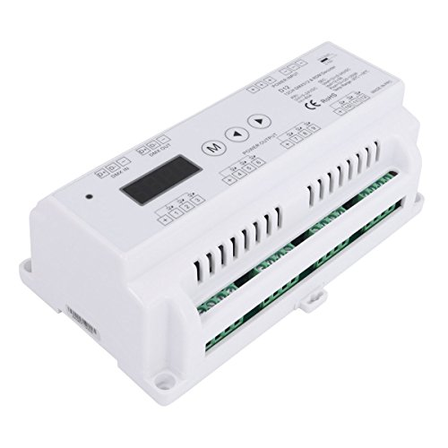 12 Channel 5A/CH DMX512&RDM Decoder Constant Voltage DC5-24V for RGB/Single Color LED Strip(12CH ()