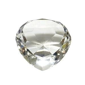 Amazon Com Crystal Clear Glass Heart Shaped Diamond Ring