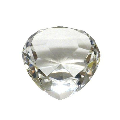 Heart Shaped Diamond ring shape Jewel Paperweight-3.25