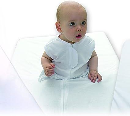 Ti TIN - Sábana Bajera De Seguridad Para Bebés | Sábana Fantasma De Cuna 100% Algodón, Color Blanco, 60x120 hasta 70x140 cm: Amazon.es: Bebé