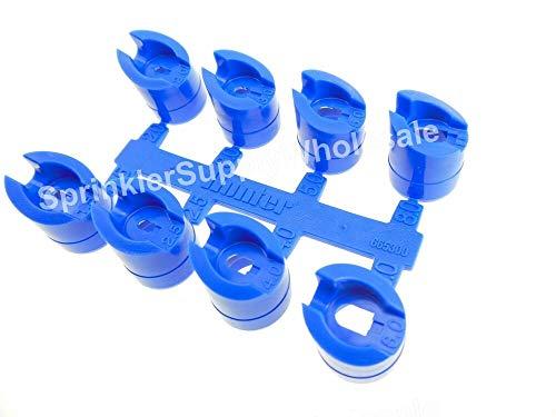 5 SETS Hunter PGP Standard Blue Nozzle Rack 665300-8 Nozzles Per - Standard Nozzle