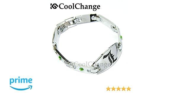 CoolChange Pulsera de Death Note con la L y con Unas Piedras Brillantes Decorativas