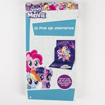VALENTINE CARDS 16CT MY LITTLE PONY POP UP, Case Pack of 28