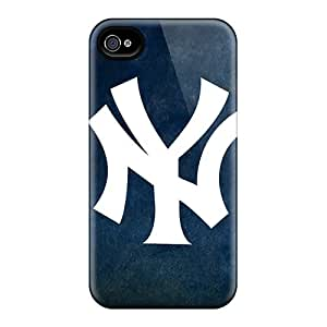 AlissaDubois Iphone 4/4s Durable Hard Phone Covers Support Personal Customs Stylish Ny Yankees Image [xeF9512ROPH]