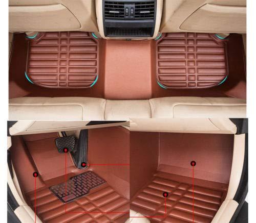 FidgetKute Car Floor Mats FloorLiner for Lexus ES350 2012-2017 Front & Rear Set All-Weather Brown