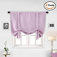 Deconovo Pink Blackout Curtains Light Blocking Curtains...
