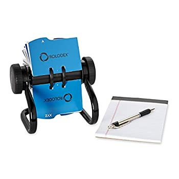Rolodex Open Rotary Business Card File With 200 2-58 By 4 Inch Card Sleeve & 24 Guide, 400-card Cap, Black (67236) 2
