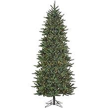 Northlight Slim Fresh Cut Carolina Frasier Artificial Christmas Tree Multicolored Pre-Lit, 9'