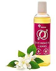 Verana Jasmine erotische Massage Olie, natuurlijke cosmetica met Ylang Ylang voor sensueel en seksueel genot, aromatherapie, 250ml