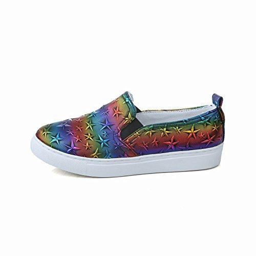Mee Shoes Damen bequem runde Geschlossen Slipper Mehrfarbe
