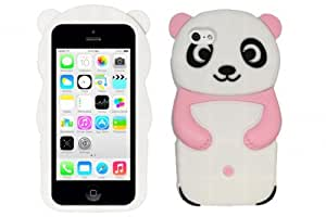 CYstore 3D Cute Animal Cartoon Design Silicone Skin Cover Case For iPhone 5C / Lite (include a Free Cystore ? Stylus Pen) - Panda Baby Pink