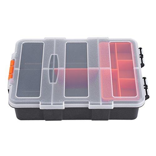 Caja de almacenamiento de herramientas de plástico resistente Organizador de cajas de 11 ranuras Caja de almacenamiento de...