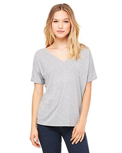 Bella + Canvas Ladies' Slouchy V-Neck T-Shirt, Athletic Hthr, X-Large