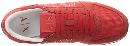 Red Absolute Sneaker Running A X Armani Sneaker Fashion Retro Exchange Men xwvUgqOZ