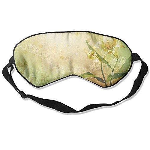 Sleep Mask Vector Lily Eye Cover Blackout Eye Masks,Soothing Puffy Eyes,Dark Circles,Stress,Breathable Blindfold -