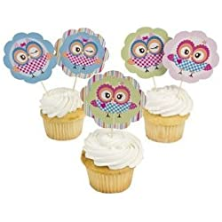 Fun Express You're A Hoot Owl Cupcake Picks - 25 Piece Pack