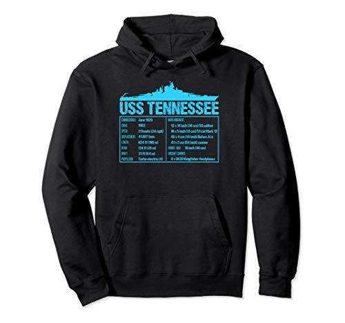 WW2 USS Tennessee Battleship Technical Facts Hoodie