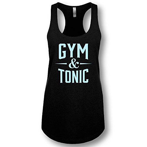Tonic Top - LA Imprints Women's Gym and Tonic Ladies' Racerback Tank Top, Black, Extra Large