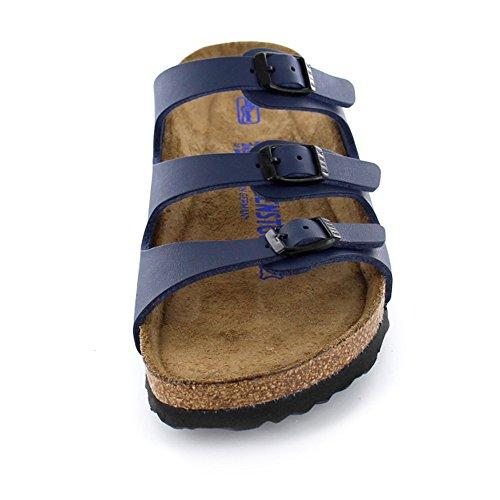 Birkenstock Original Florida Birko Flor etroit (pour pied fin) Soft-Footbed, , blue, 554713 37,0
