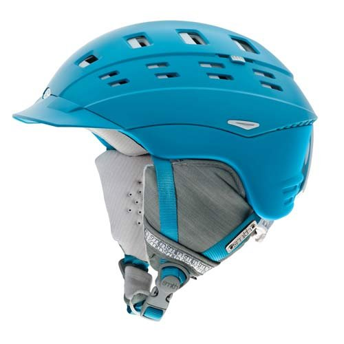 Smith Optics Women's Variant Brim Helmet (Large/59-63-cm, Light Blue Twist), Outdoor Stuffs
