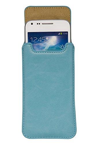 """Handytasche türkis mit Magnetverschluss geeignet für """"Apple Iphone SE"""" Handy Schutz Hülle Slim Case Cover Tasche Etui mit Auszugband"""