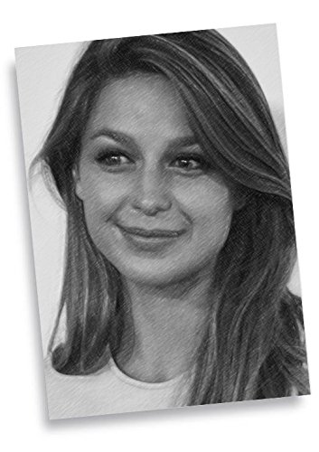 Melissa Benoist - Aceo Sketch Card Signed by the Artist