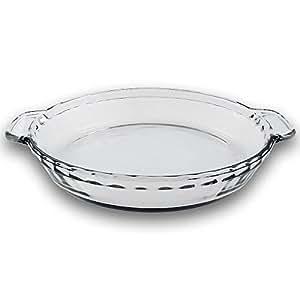TrueCraftware 9.5 Inch - Clear Glass Baking Deep Pie Dish Plate