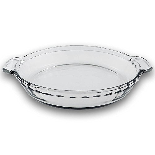 Deep Dish Pie Pan (TrueCraftware 9.5 Inch - Clear Glass Baking Deep Pie Dish Plate )