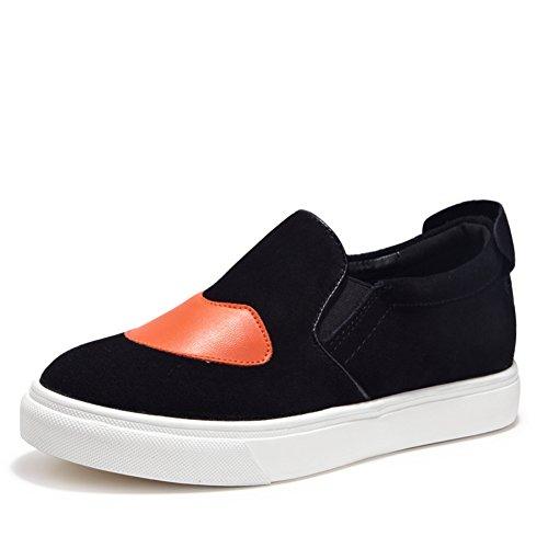 Gao Lefu aumenta dentro de los Ola coreana suela gruesa zapatos ocasionales/Corte de base plana bajo zapatos A