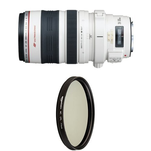 Canon EF 28-300mm f/3.5-5.6L IS USM Lens With Circular Polarizer Lens - 77 mm