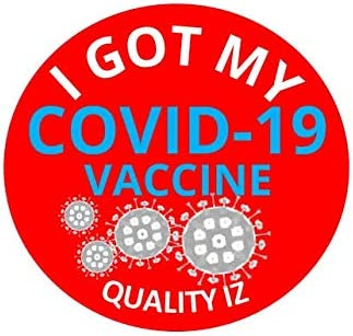 We are Covid-19 Vaccinated Business Vinyl Sticker