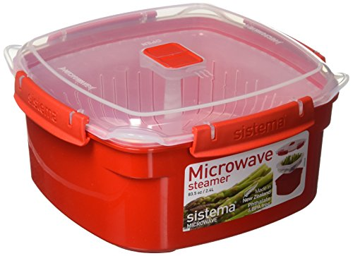 Sistema Medium Microwave Steamer - Random Colors 10.4 Cup capacity 83.5oz
