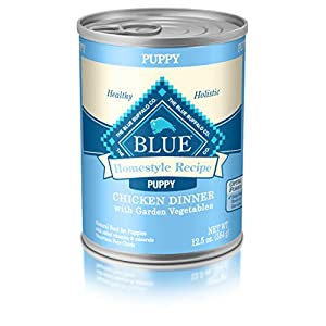 Blue Buffalo Homestyle Recipe Natural Puppy Wet Dog Food, Chicken 12.5-Oz Can (Pack Of 12) 28