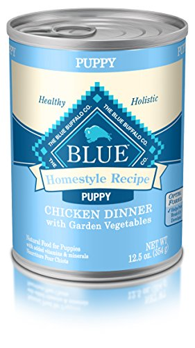 Blue Buffalo Homestyle Recipe Natural Puppy Wet Dog Food, Chicken 12.5-Oz Can (Pack Of 12) (Best Wet Dog Food For Puppies)