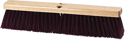 - Carlisle 3621932400 Flo-Pac Hardwood Block Crimped Sweep, Polypropylene Bristles, 24