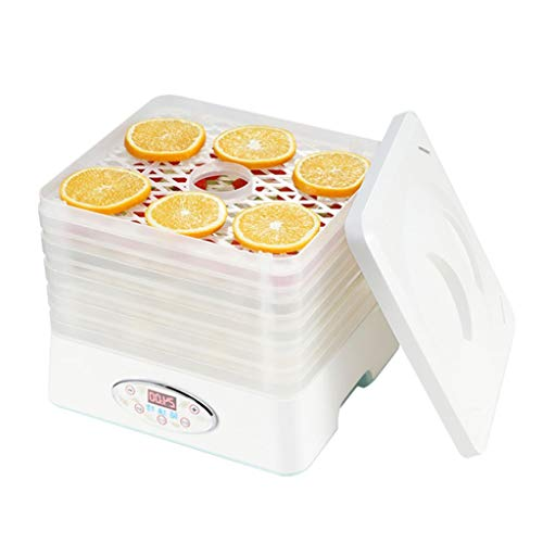 Food Dehydrator Machine - Digital Multi-Tier Food Preservation Device with Temperature and Time Setting Dried Fruits/Vegetables/Meat Maker 5 Removable and Stackable Drying Trays 200-260 ()