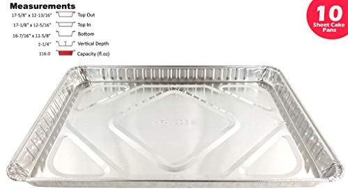 Handi-Foil 1/2 Half-Size Sheet Cake Disposable Aluminum Baking Pan Tins (pack of ()