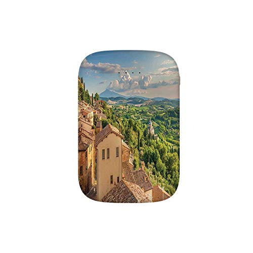 Sunset Rural Landscape Cypresses Forest Hills Greenery Blue Sky Clouds Portable Charger 8000mAh Power Bank External Battery Backup Pack Fast Charger for iPhone,Samsung Galaxy and More