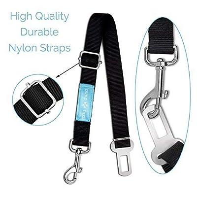 Dog Seat Belt Pet Dog Cat Car Seatbelt Safety Tether - 2 Pack - Adjustable Harness Belts Pet Leash - Heavy Duty Nylon Seatbelts - Universal Fit Cars Truck SUV