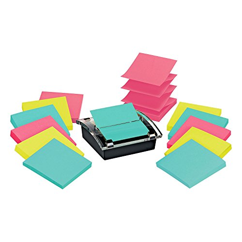 Post-It Note Dispenser, Sticky Post-it Pop-up Notes, Miami Colors, 2 Packs by Post-it
