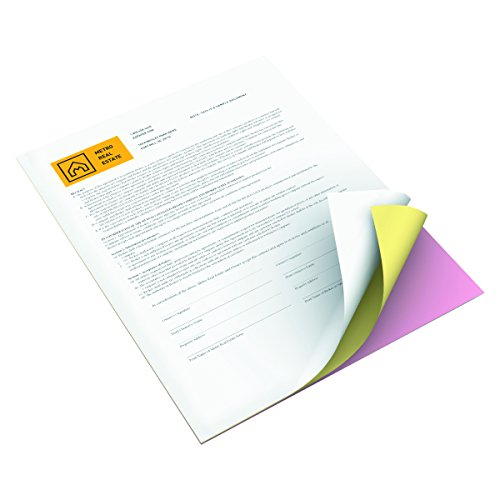 Xerox 3R12424 Premium Digital Carbonless Paper, 8-1/2 x 11, Pink/Canary/White, 1,670 Sets by Xerox