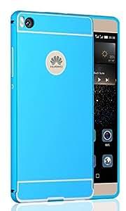 Prevoa ® 丨 Huawei P8 Lite Funda - Metal Funda Cover Case para Huawei P8 Lite 5.0 Pulgadas Android Smartphone - Azul