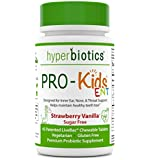 PRO-Kids ENT: Children's Oral Probiotics (Chewable & Sugar Free)—Uniquely Formulated to Support Your Child's Oral, Ear, Nose, and Throat Health (Strawberry Vanilla)—45 Chewable Probiotic Tablets.
