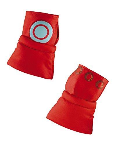 Marvel Super Hero Squad Iron Man Gauntlets (Iron Man Glow Arc Reactor)
