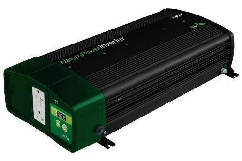 Nature Power 38326 Pure Sine Wave Inverter with 55-Amp Charger, 2000-watt by Nature Power